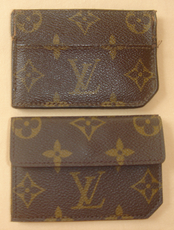 top: LV Portemonnaie clic, bottom:  LV special order wallet