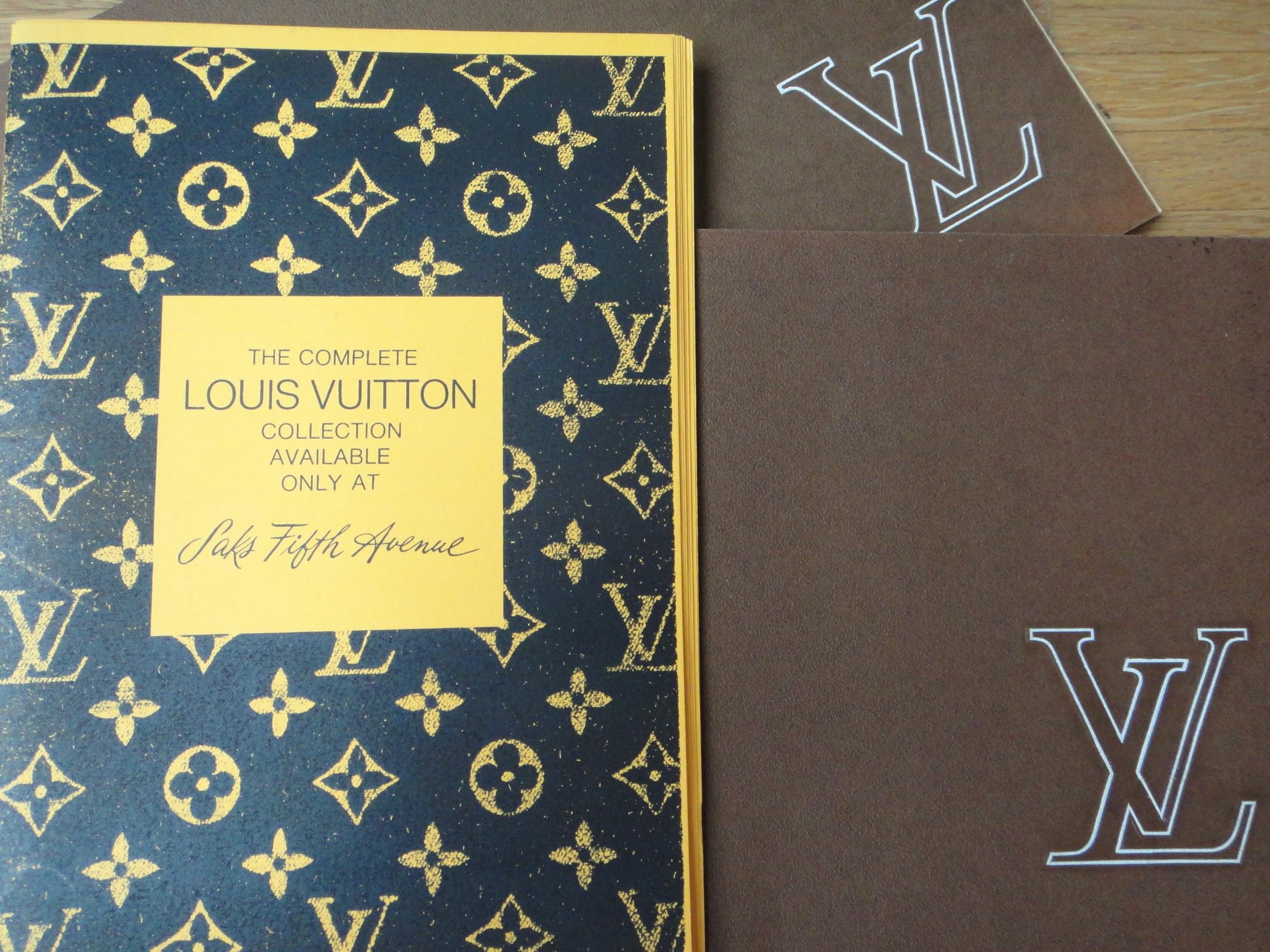 vintage Louis Vuitton catalogs