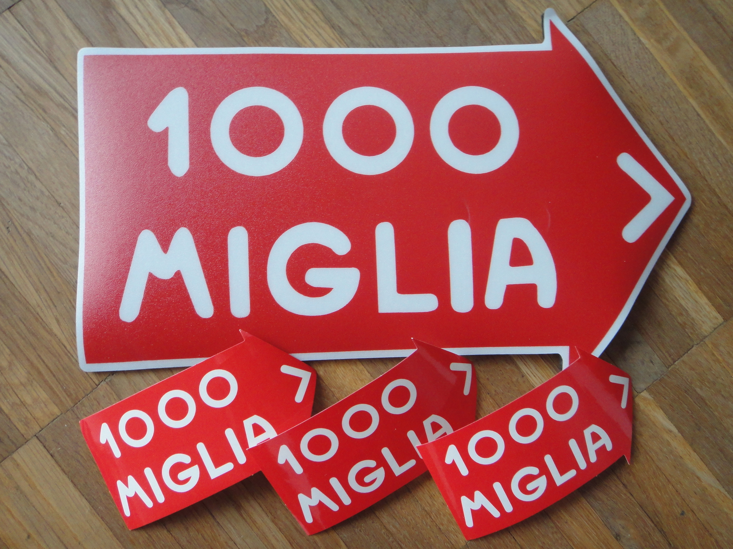 Mille Miglia mouse-pad and stickers