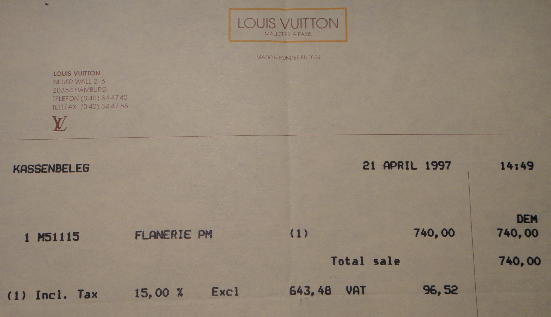 my old invoice / meine alte Rechnung