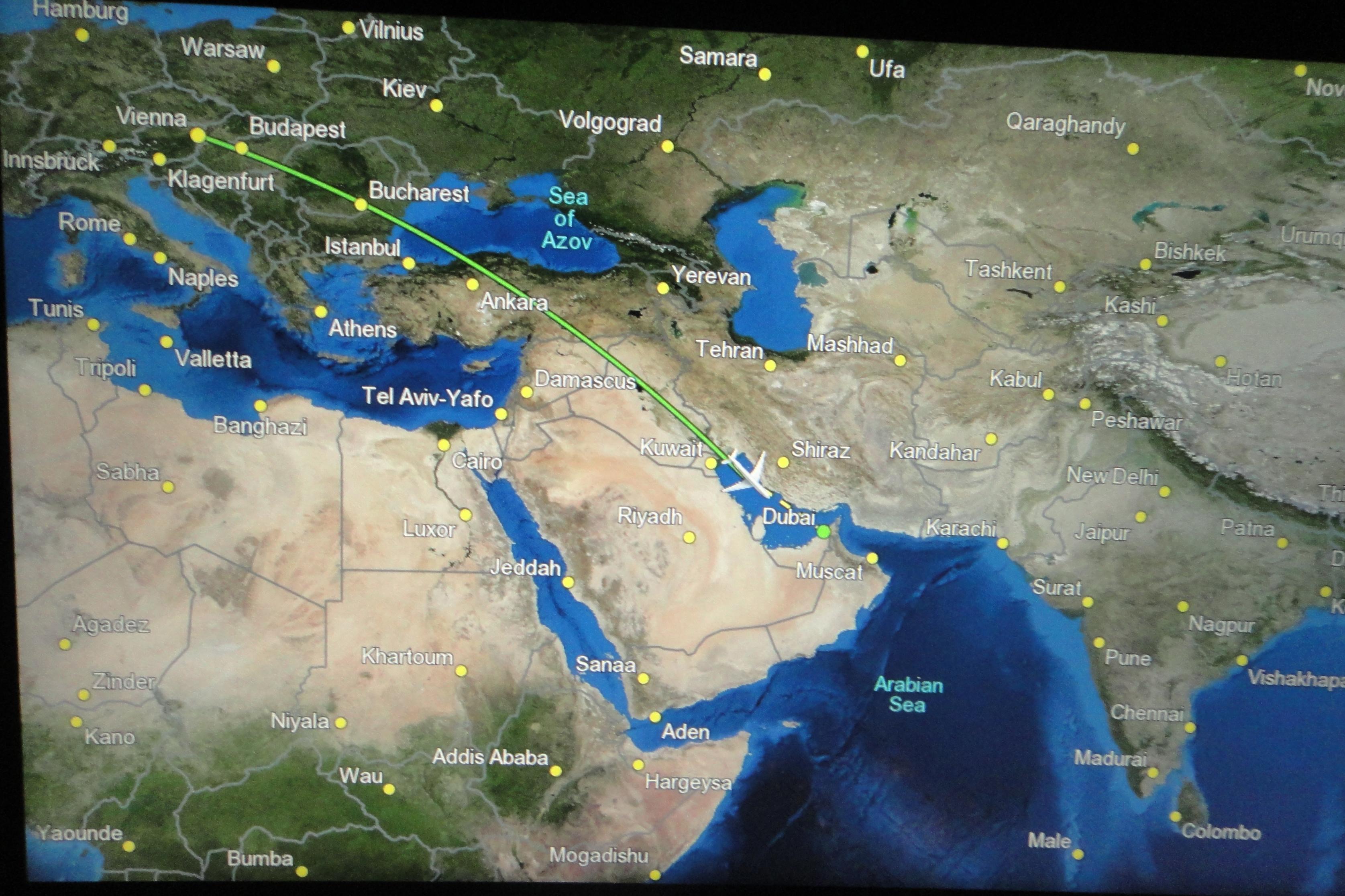 from Vienna to Dubai / von Wien nach Dubai