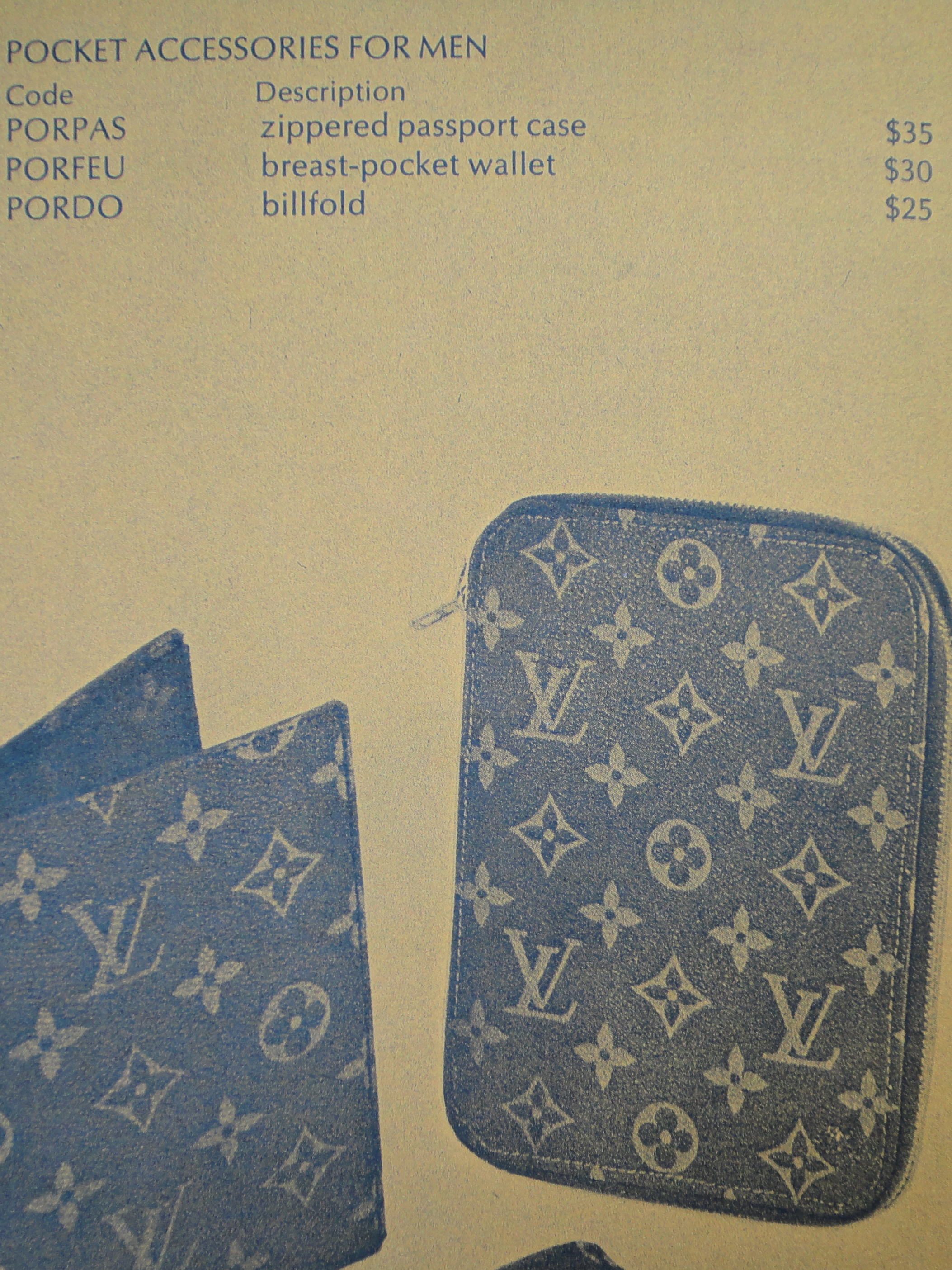 from '80ies Saks Fifth Avenue catalog/price list