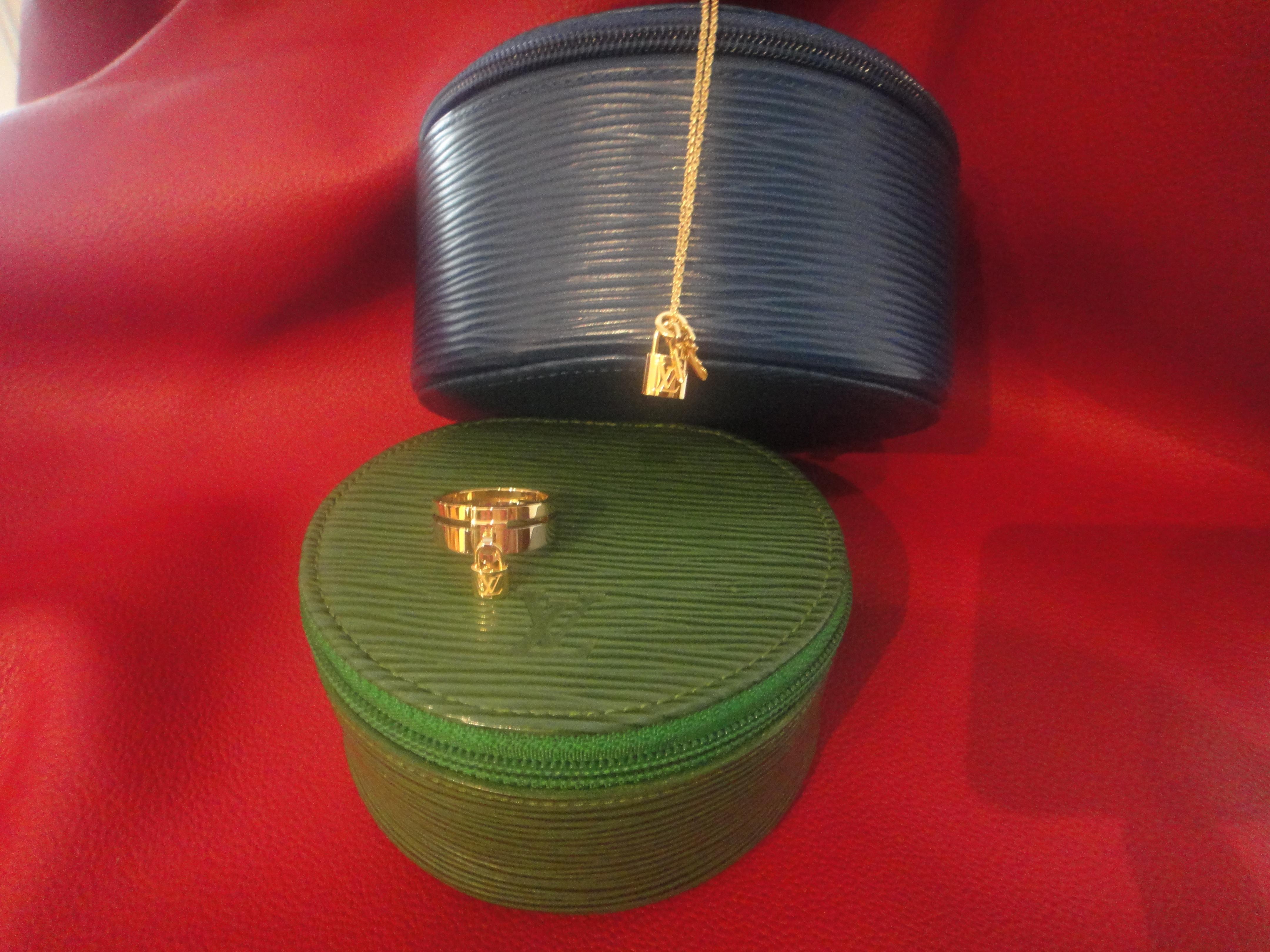 Louis Vuitton Lockit Kette und Ring gelbgold