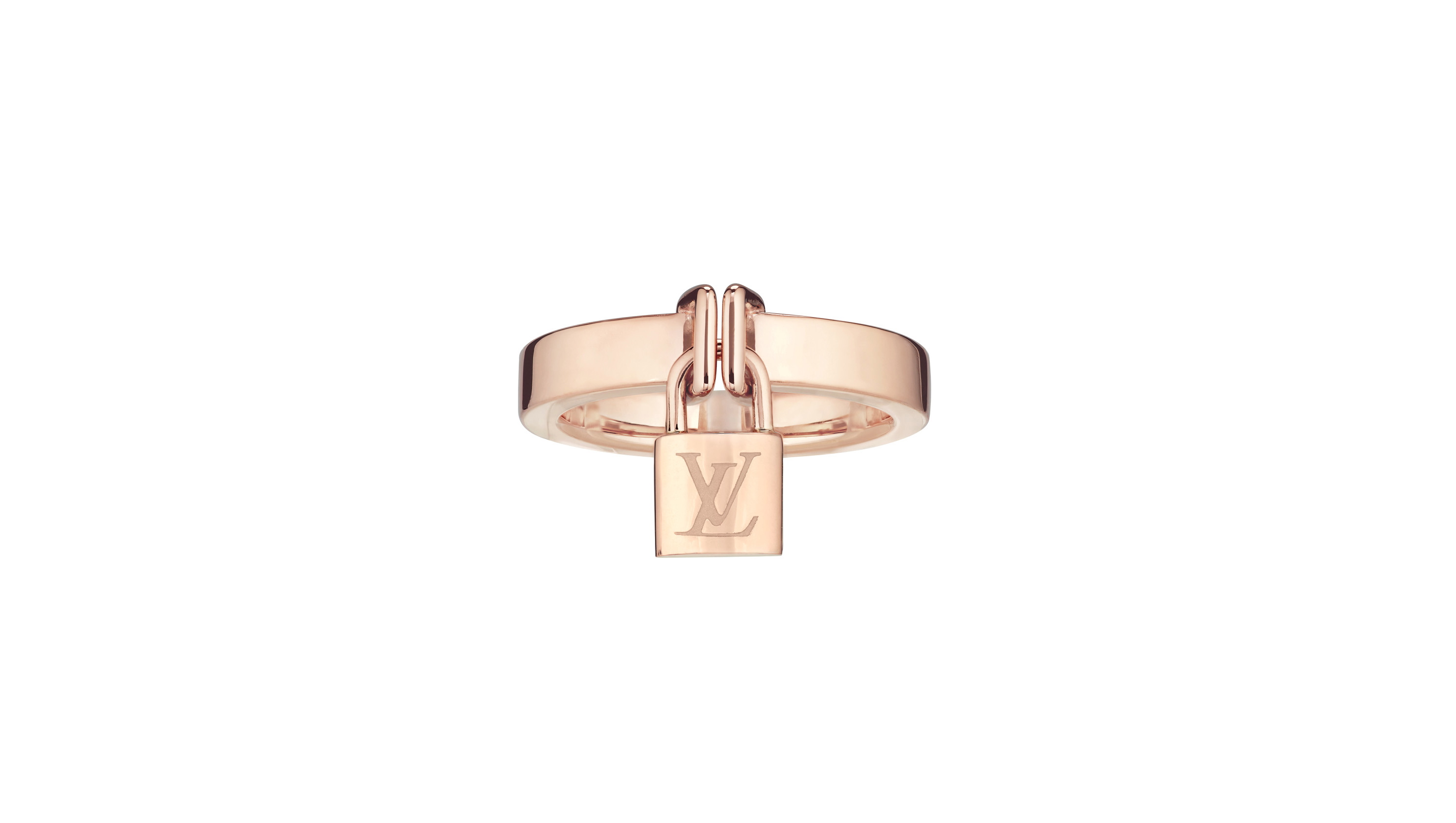 LV Lockit Ring in pink gold