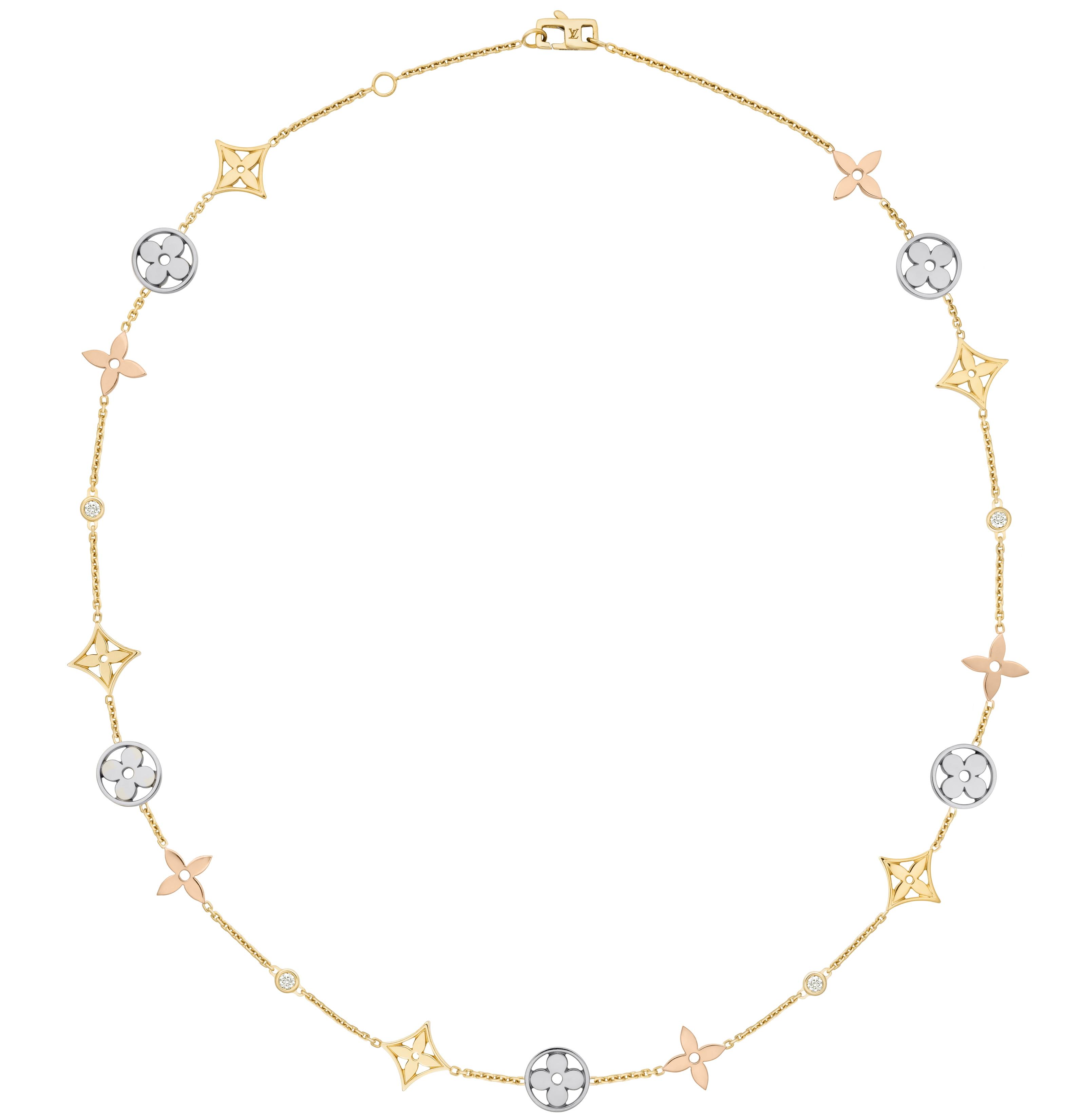 Louis Vuitton Monogram Idylle 3golds necklace / Kette