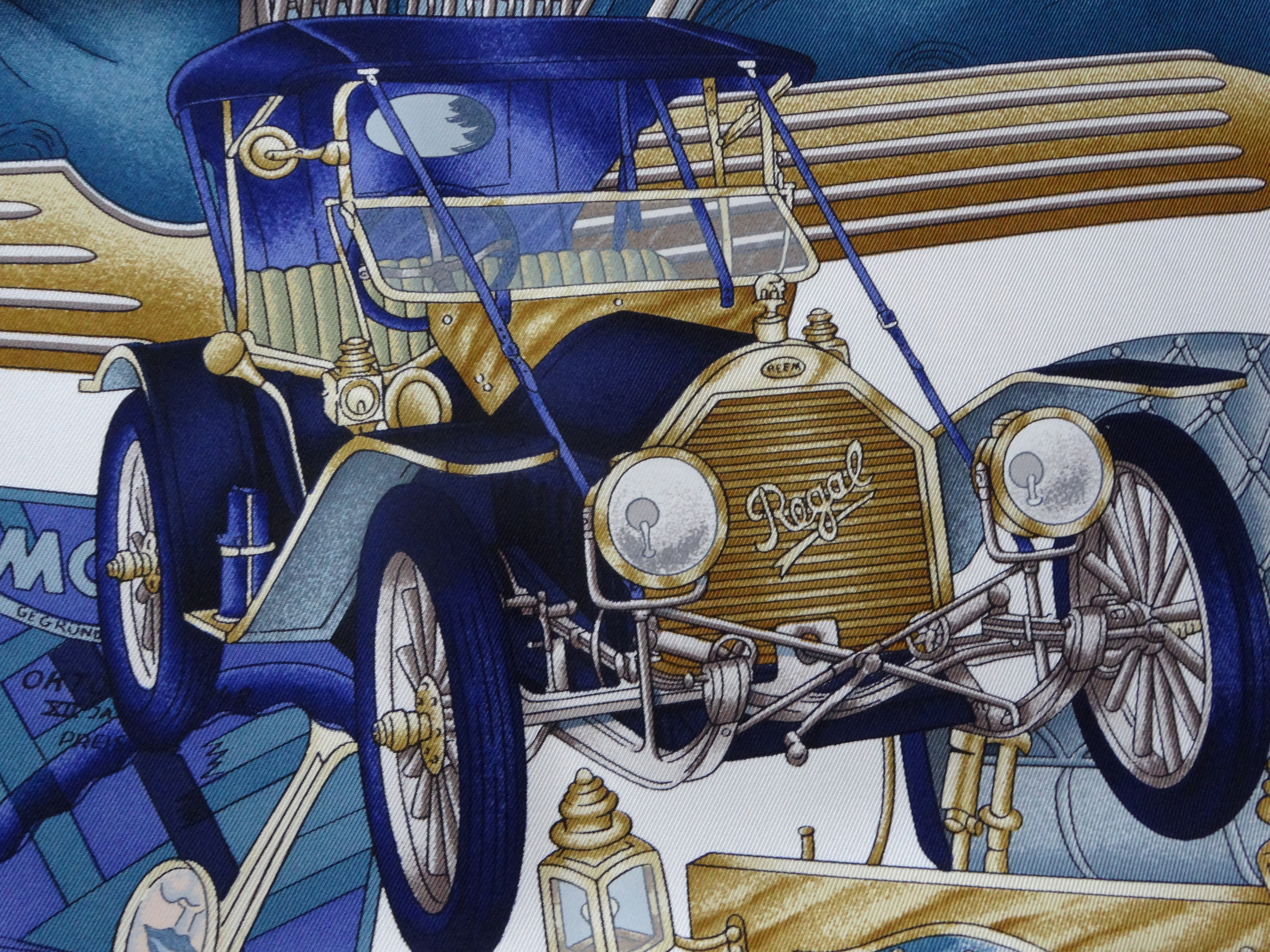 detail Hermes Automobile scarf