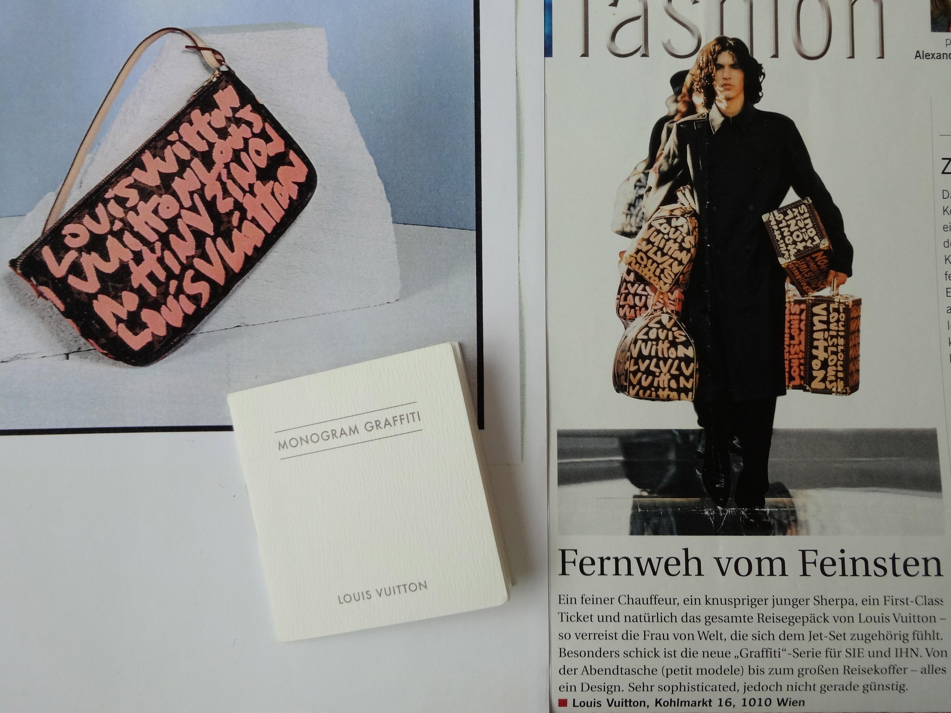 Louis Vuitton Stephen Sprouse peach Graffiti bags