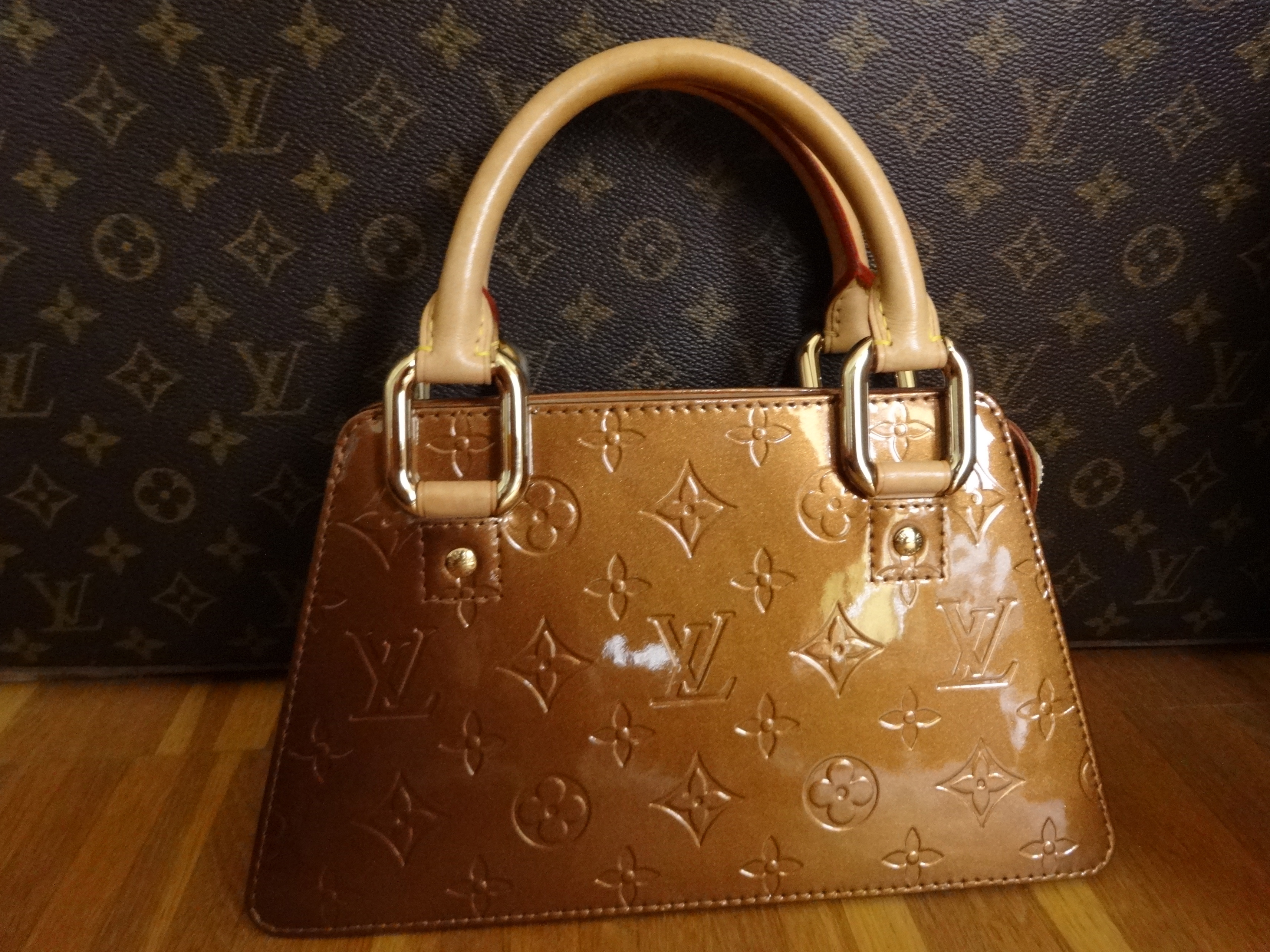 Louis Vuitton Mini Forsyth Vernis bronze