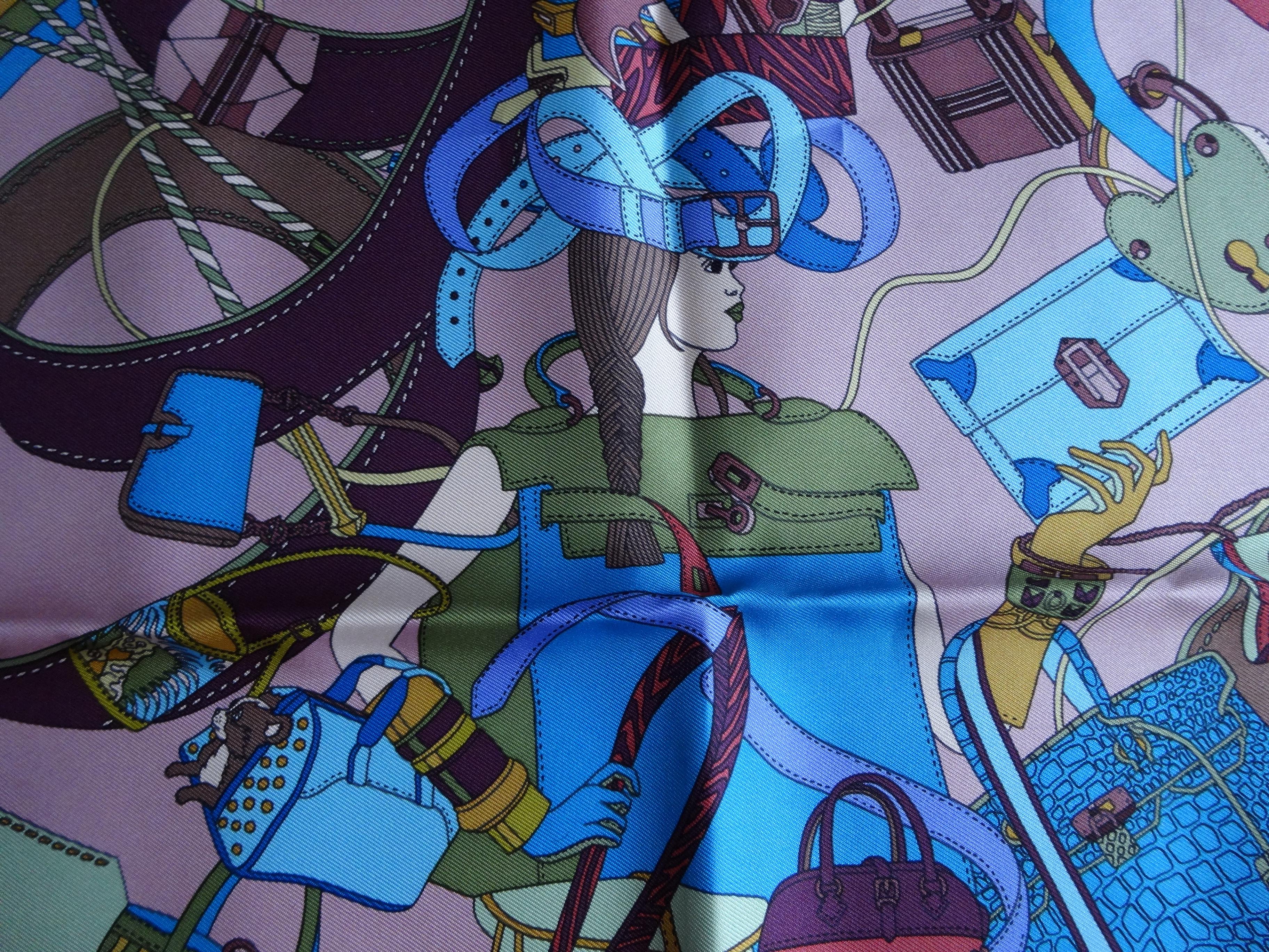 Madame Cuir by Pierre Marie, 2011, silk scarf 42cm