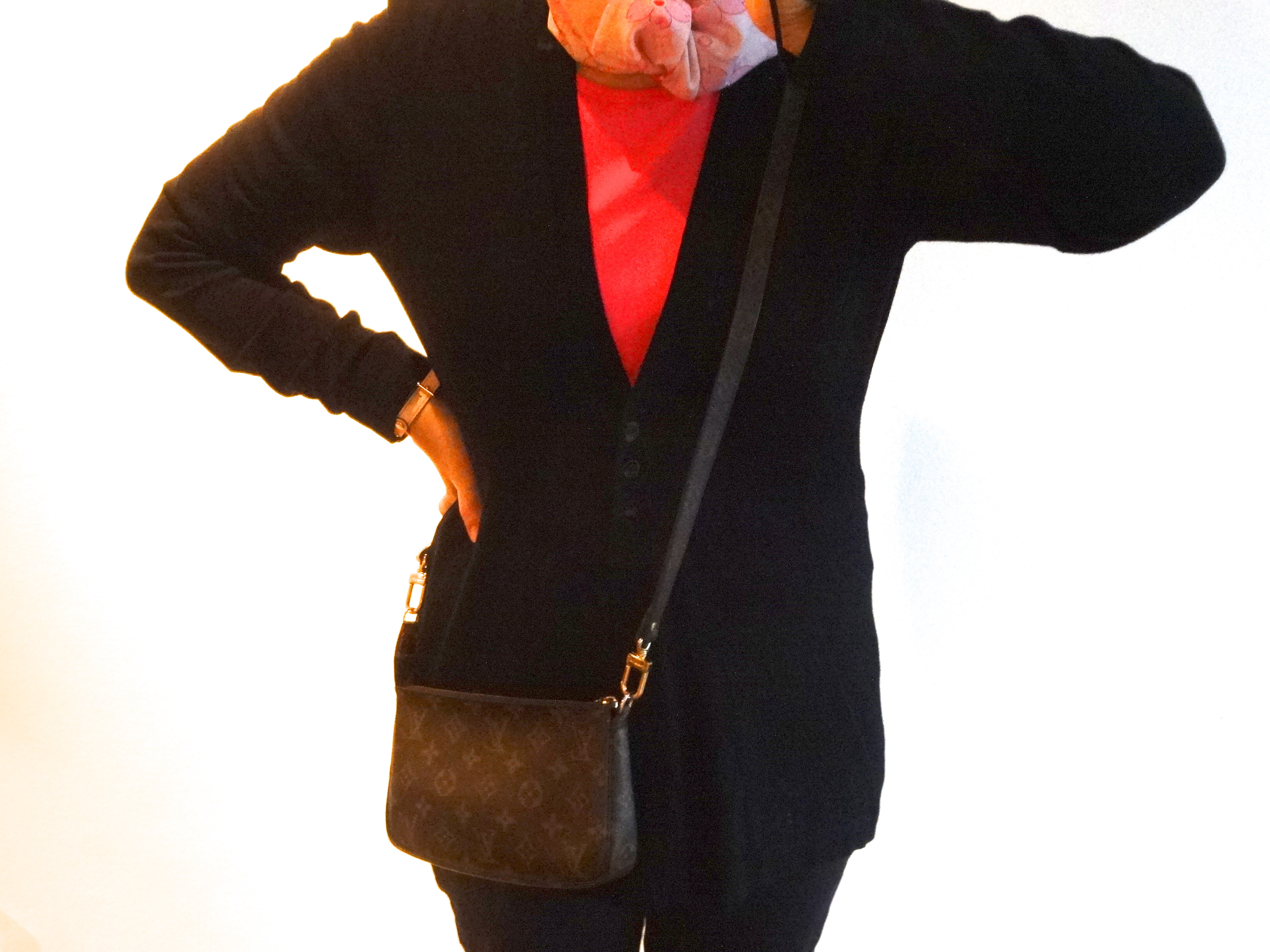 Pochette Accessoires & Laniere Toile, Monogram shoulder strap / langer Schulterriemen