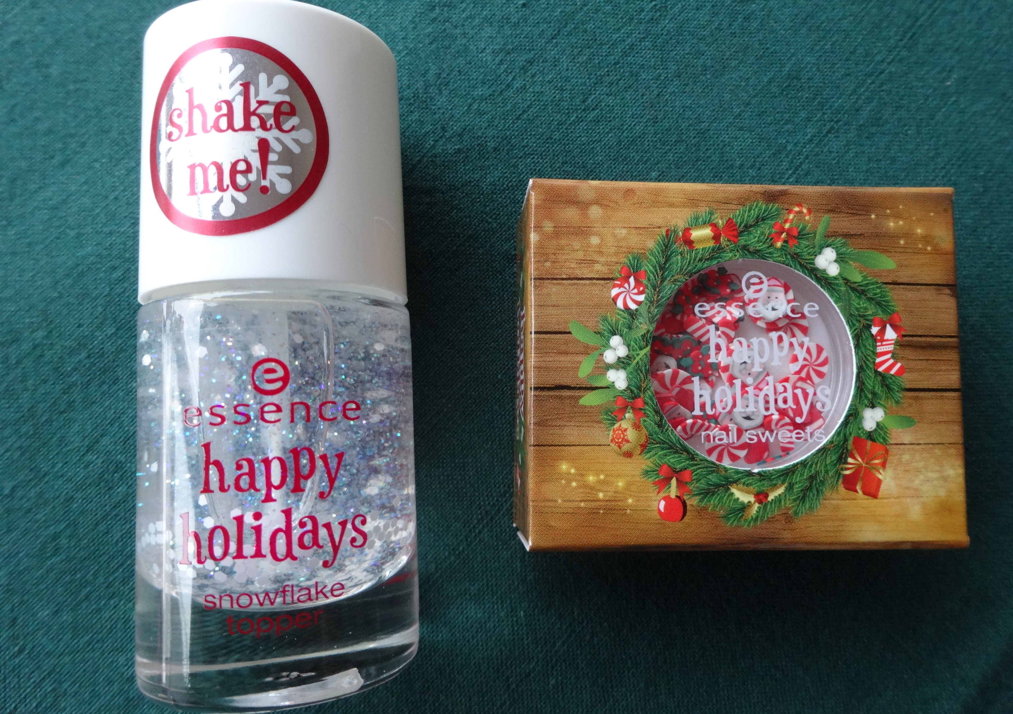 essence happy holidays snow flake topper & nail sweets