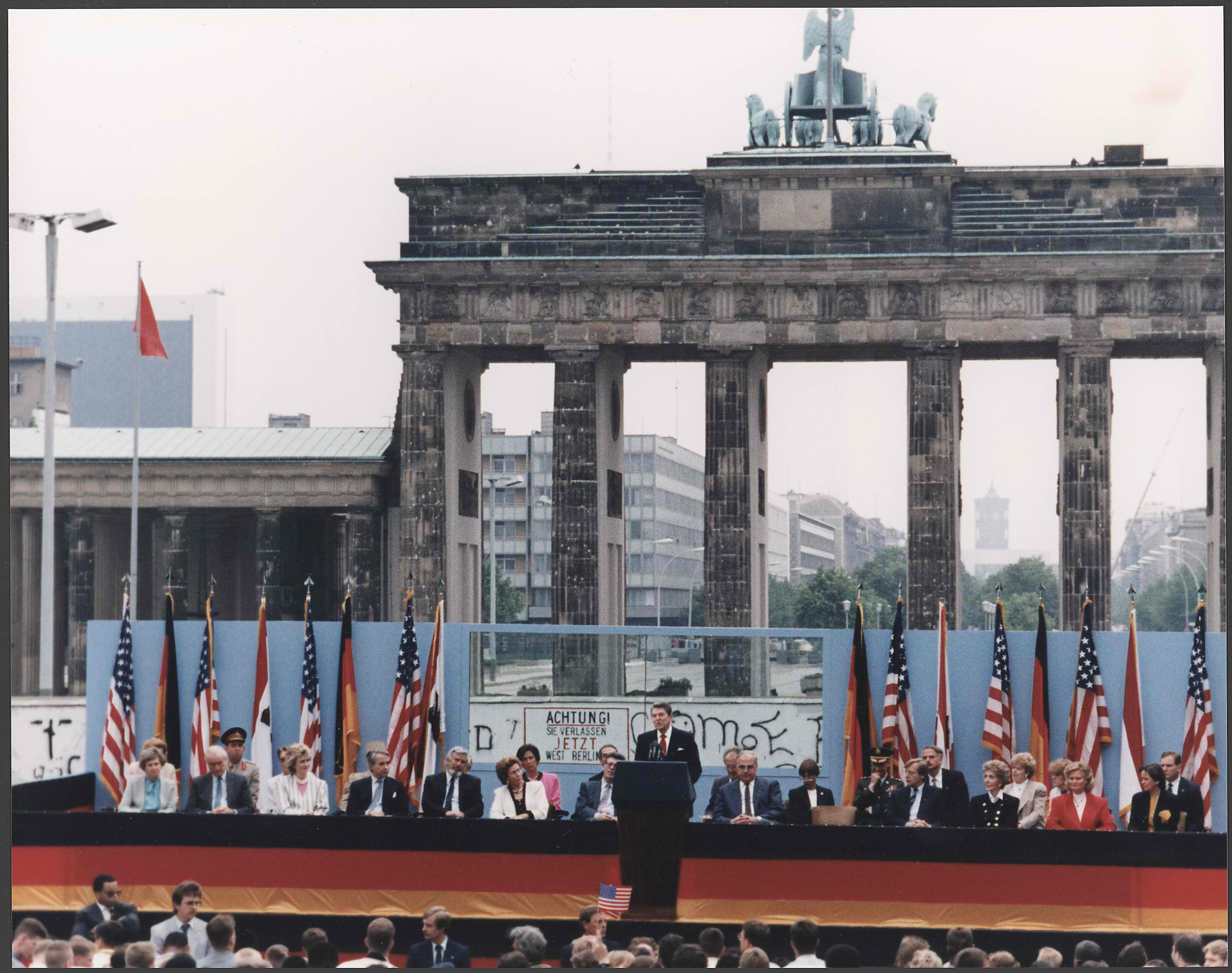 "Ronald Reagan: ""Mr. Gorbachev, tear down this wall!"" Brandenburg Gate"