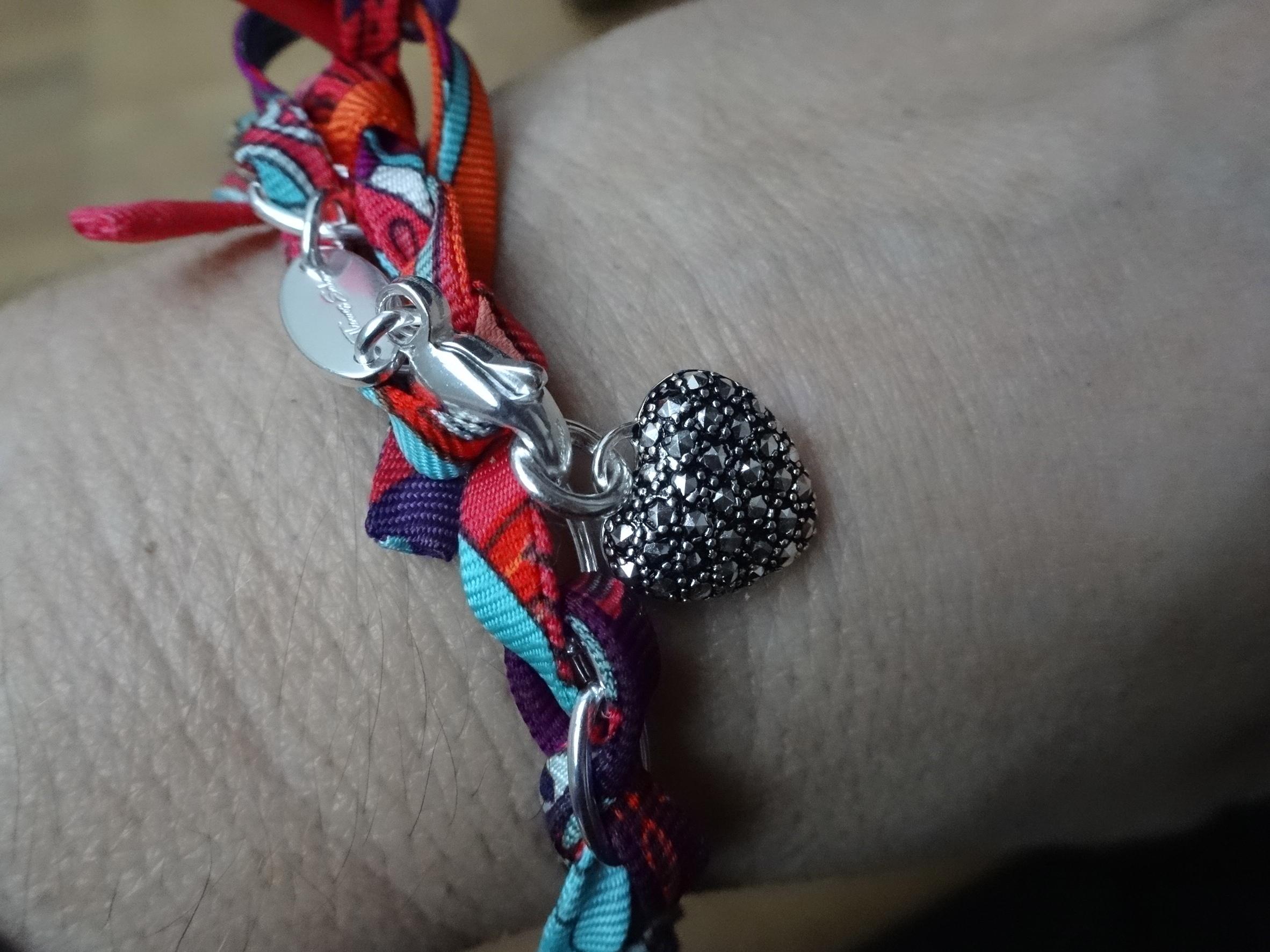 Thomas Sabo silver bracelet with Hermès Silk Spaghetti