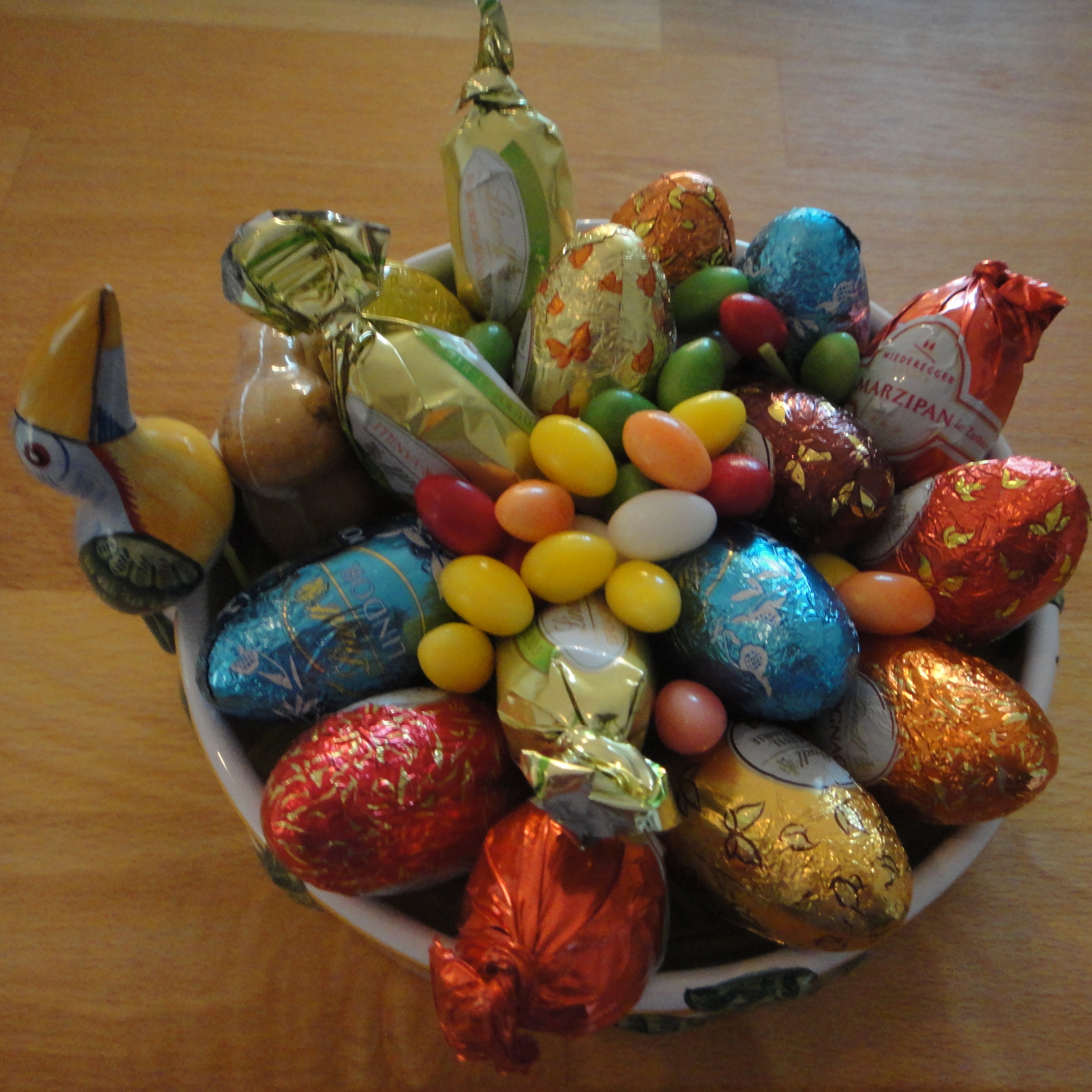 selection of Lindt & Niederegger Easter chocolates