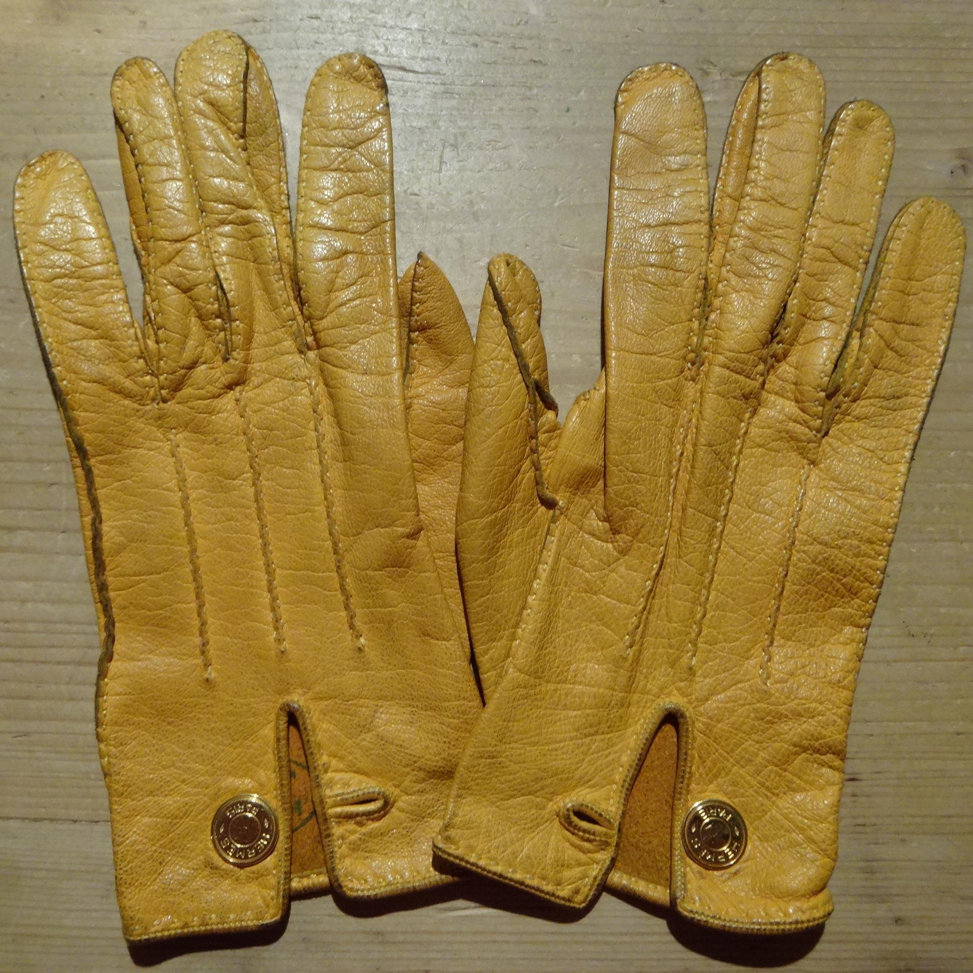 vintage Hermès gloves - a work of art