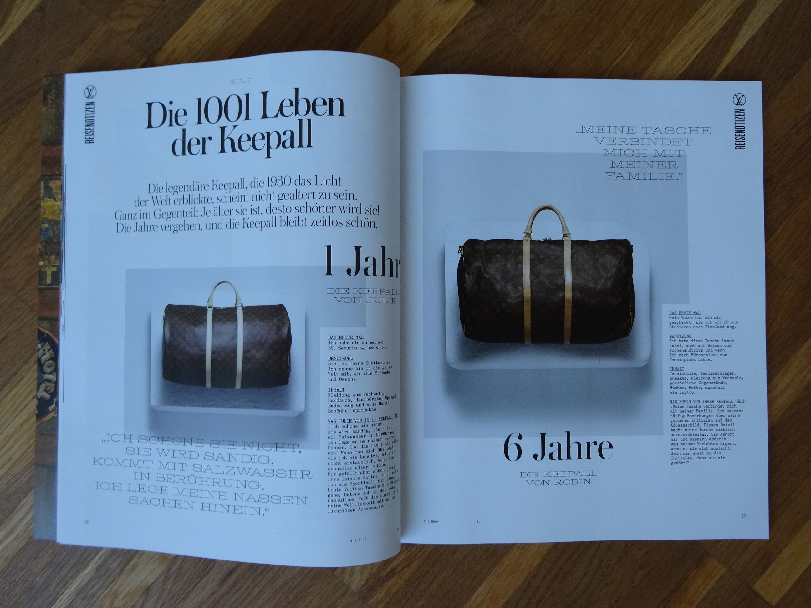 excerpt from Louis Vuitton The Book, issue #1