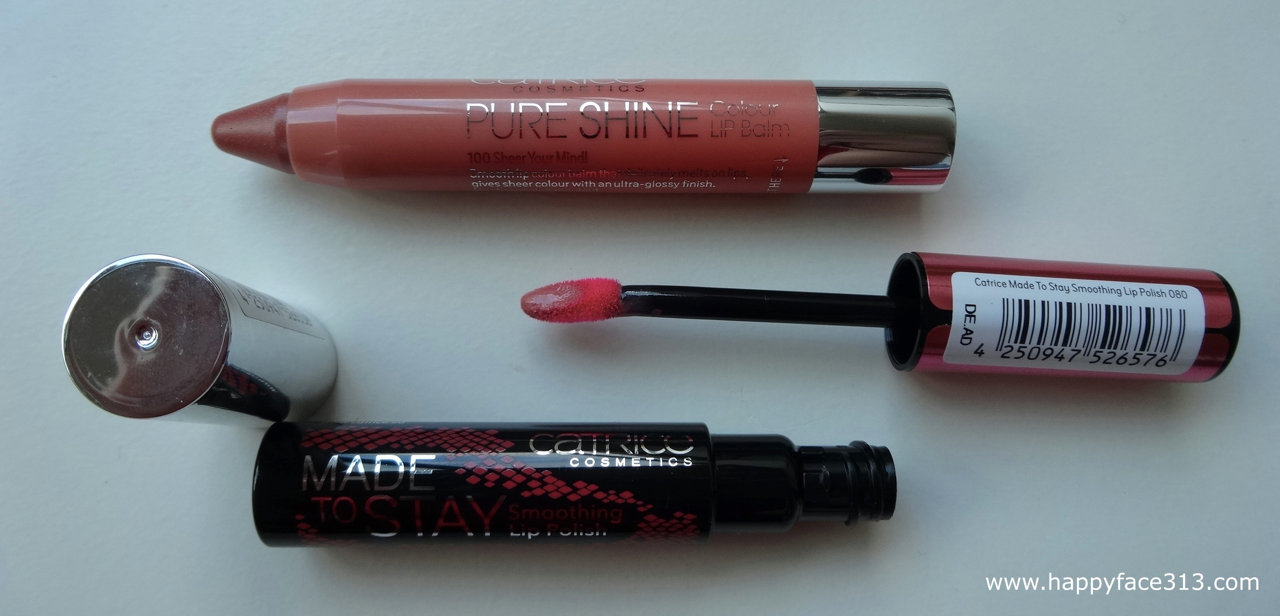 Catrice Pure Shine Colour Lip Balm & Made To Stay Smoothing Lip Polish