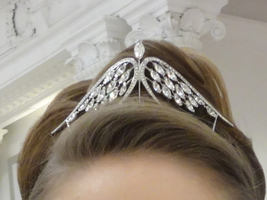 "Swarovski's ""Swift"" tiara on a lovely debutante's hair"