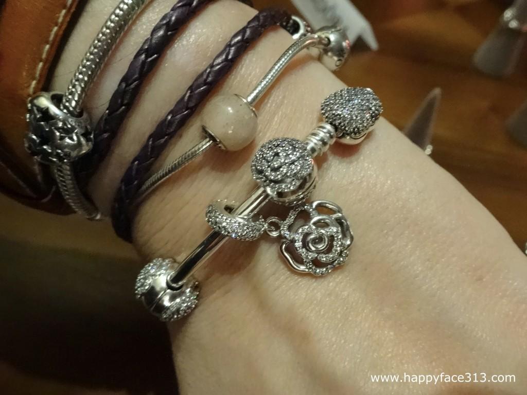 arm candy - Pandora Shimmering Rose pendant / Anhänger - Armschmuck