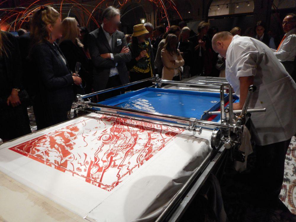 Hermès Imprimeur sur Soie / silk printer / Siebdruck