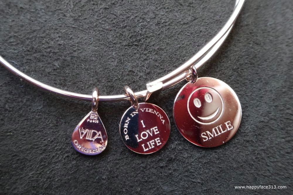 La Viida Motto Smile Bangle rosévergoldet