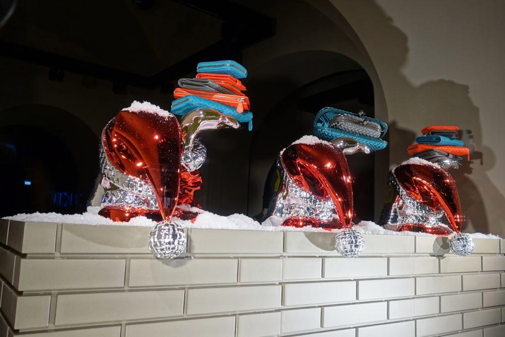 Bottega Veneta with Santas