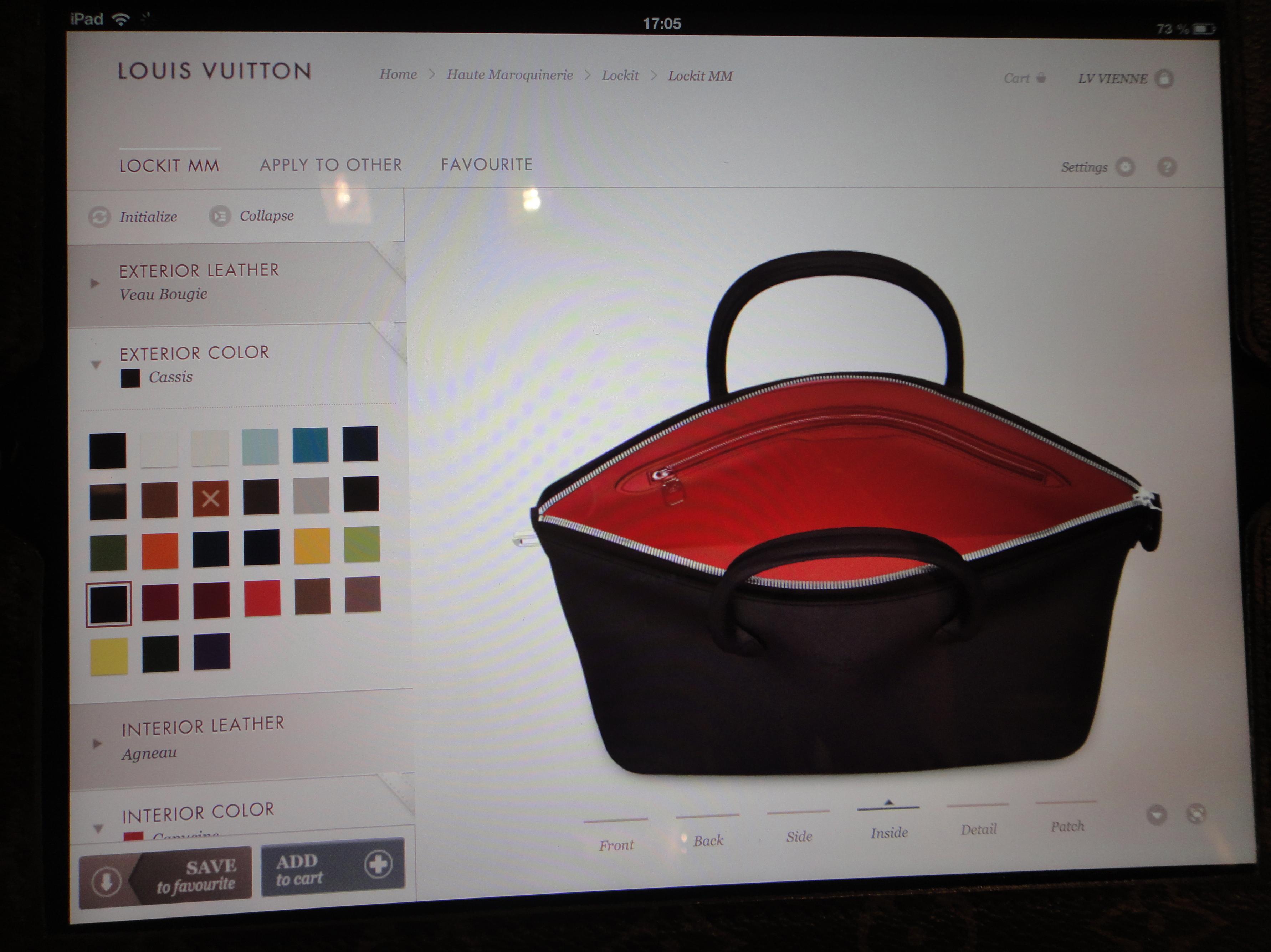 LV Haute Maroquinerie - placing an order / eine Bestellung aufgeben