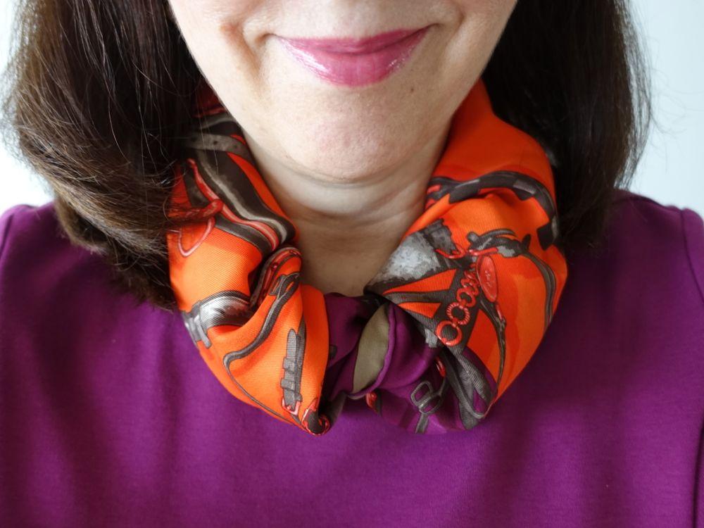 Hermès - Brides et Harnais de Pologne - orange & eggplant / aubergine