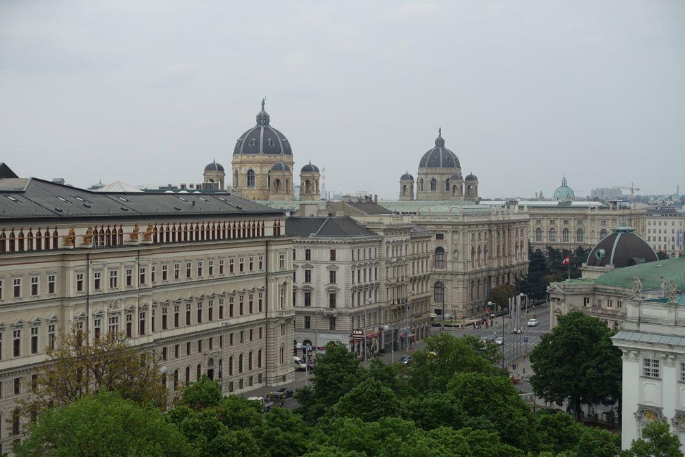 Ausblick vom Balkon des 25hour Hotels Wien