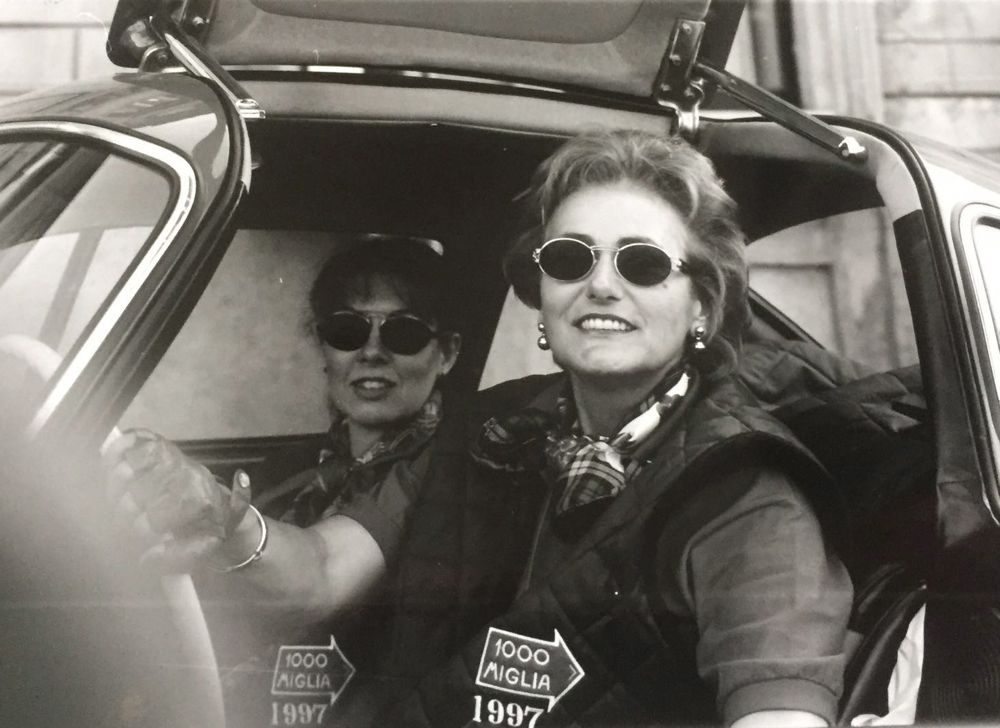 Mille Miglia - She's Mercedes - Ladies Team - thank God for sunglasses