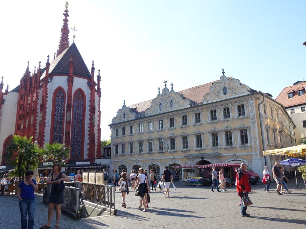 Würzburg - Marienkapelle & Haus zum Falken