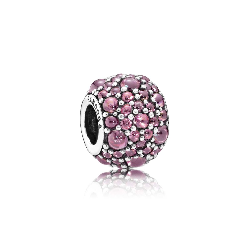 pinkfarbener / pink Shimmering Droplets Charm - © Pandora