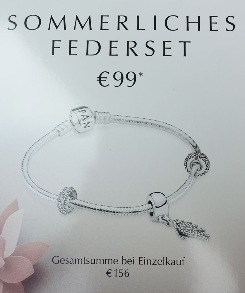 Special elegant feather charm 791750 offer / Sonderangebot Phoenixfeder 701750