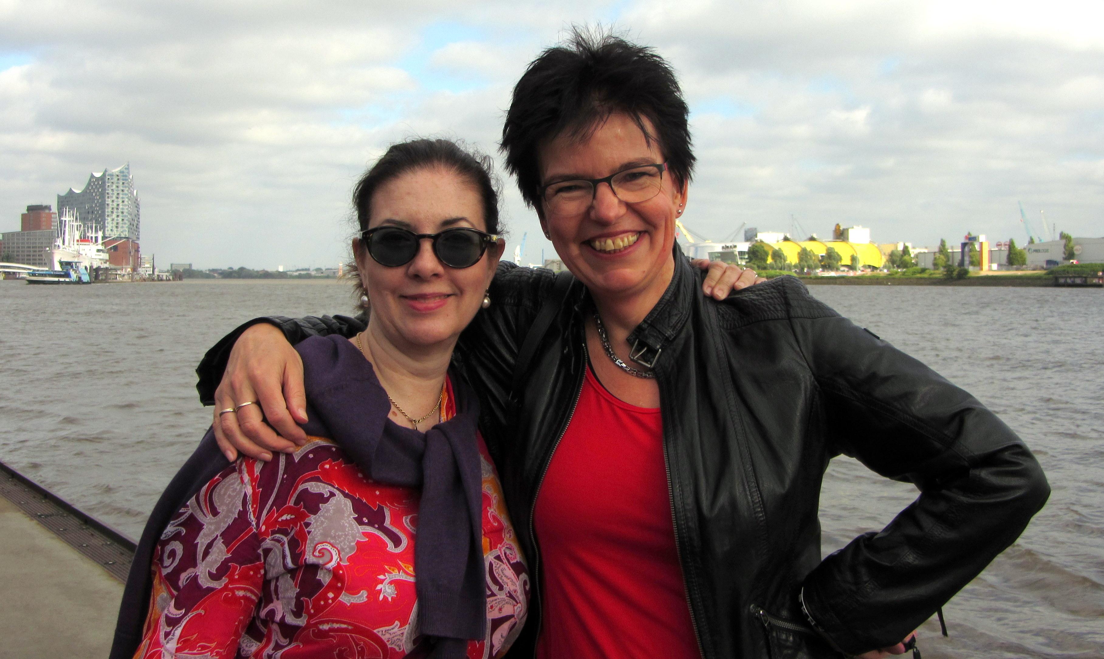 Gunda von HauptsacheWarmeFüße und ich, Foto © Ines Meyrose