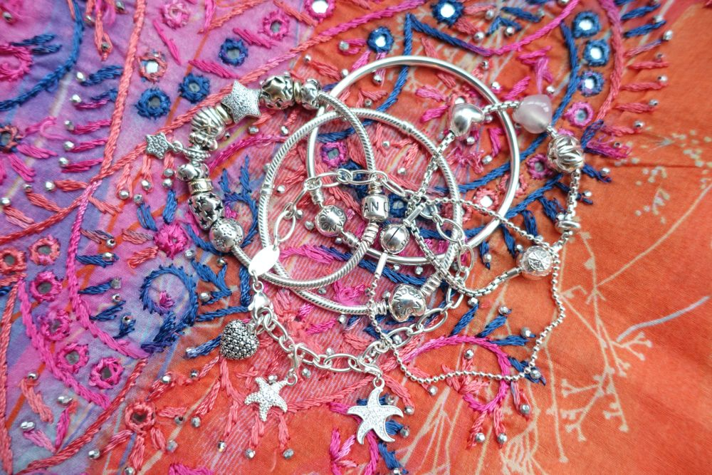 silver bracelets - Pandora & Thomas Sabo - armcandy