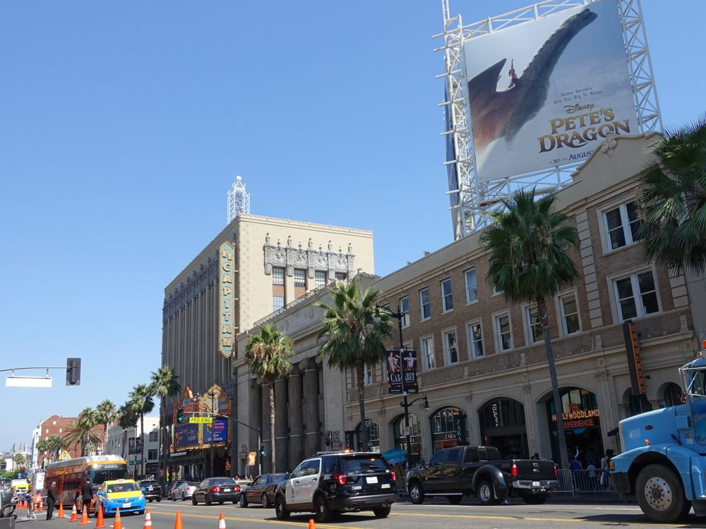 Hollywood Boulevard on a busy afternoon