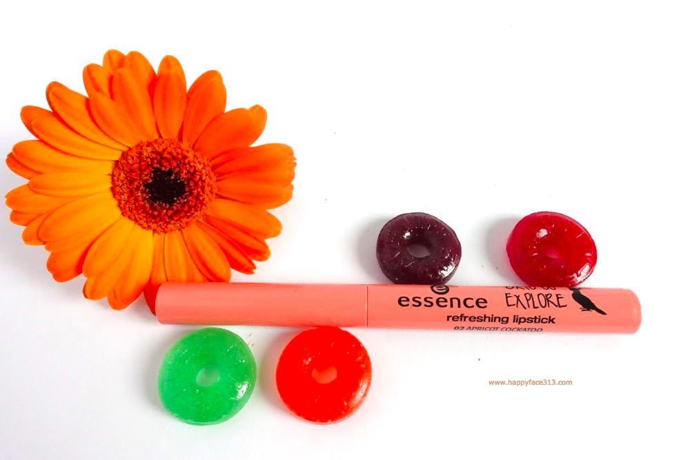 essence refreshing lipstick 02 apricot cockatoo
