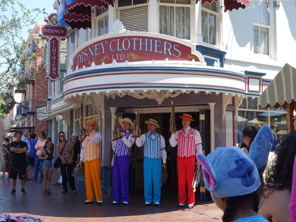 The Dapper Dans performing on Main Street