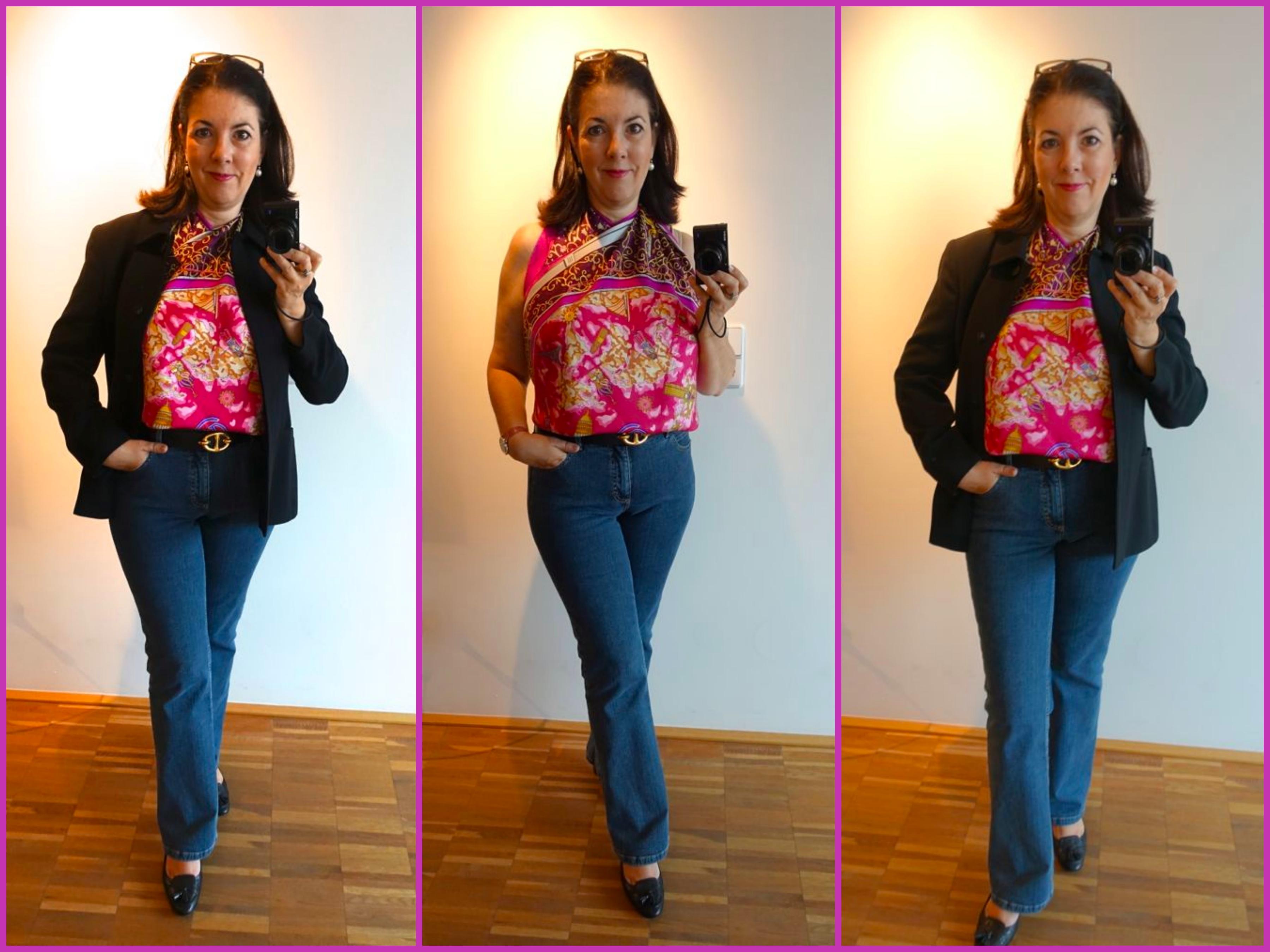 Tata! Aus dem Hermès Seidentuch wird eine Bluse
