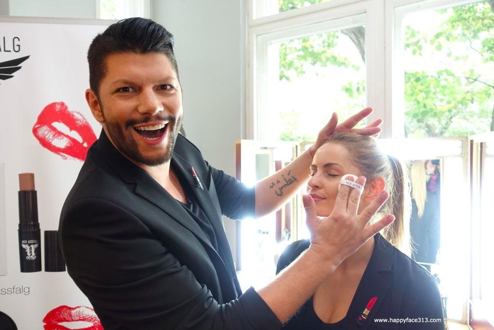 Nick Assfalg mit Modell beim StyleRanking Beauty Blogger Café
