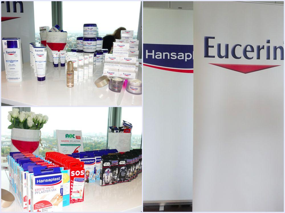 Cremes von Eucerin und Pflaster von Hansaplast