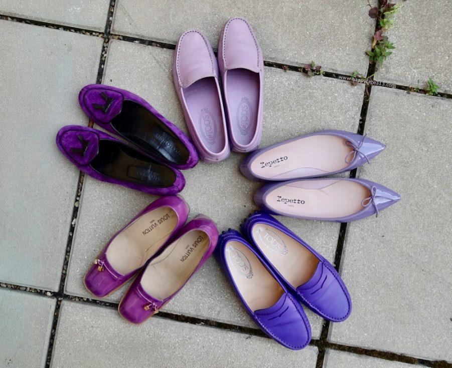 lila-Schuhe