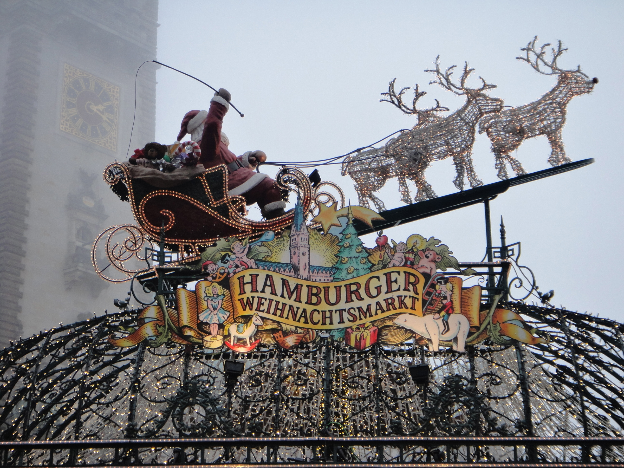entrance to Hamburg's Christmas market