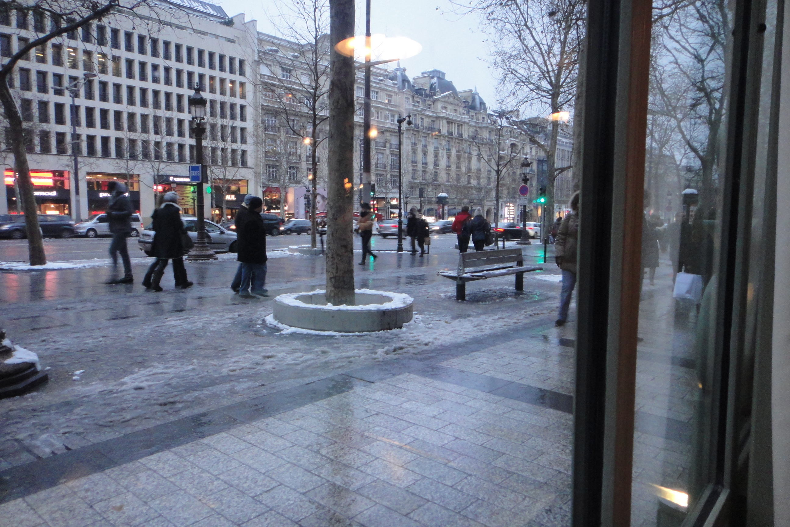 Champs Elysées from inside Ladurée