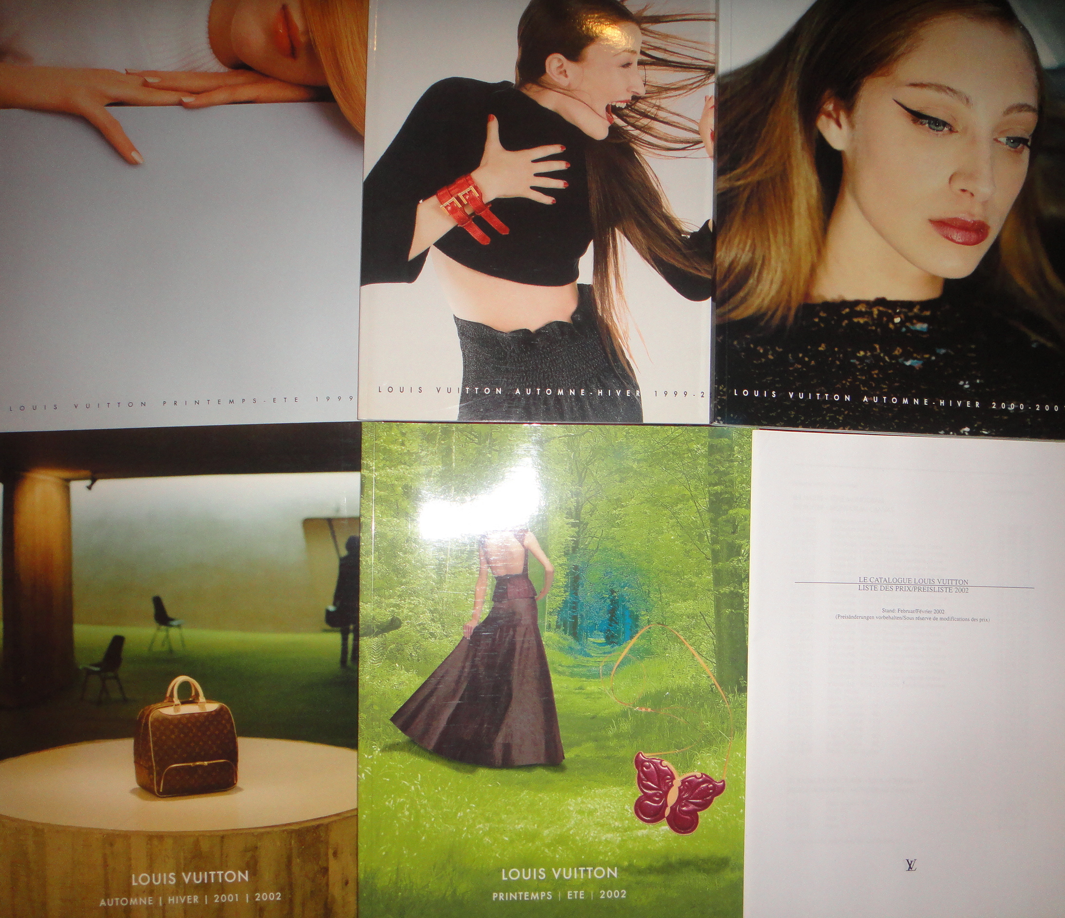 Louis Vuitton fashion catalogues & price list