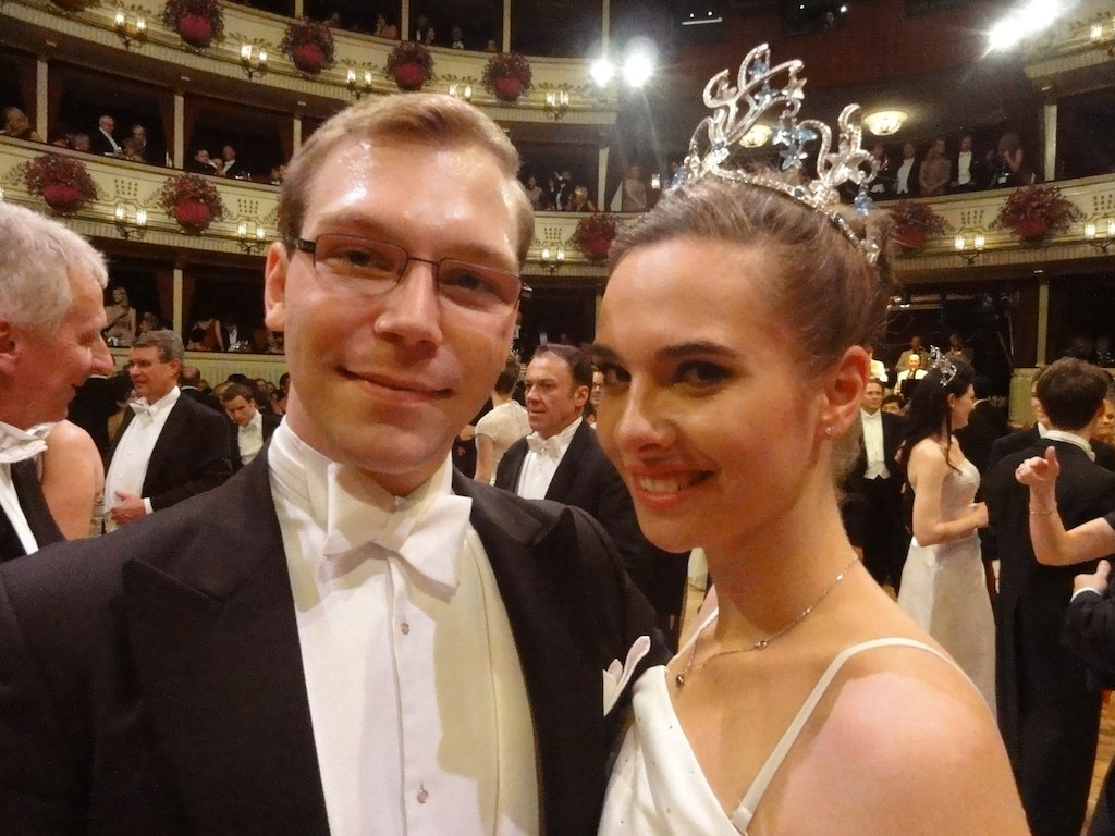 Martin Biller with Lisa Redelsteiner, both debutantes of this year's Opera Ball