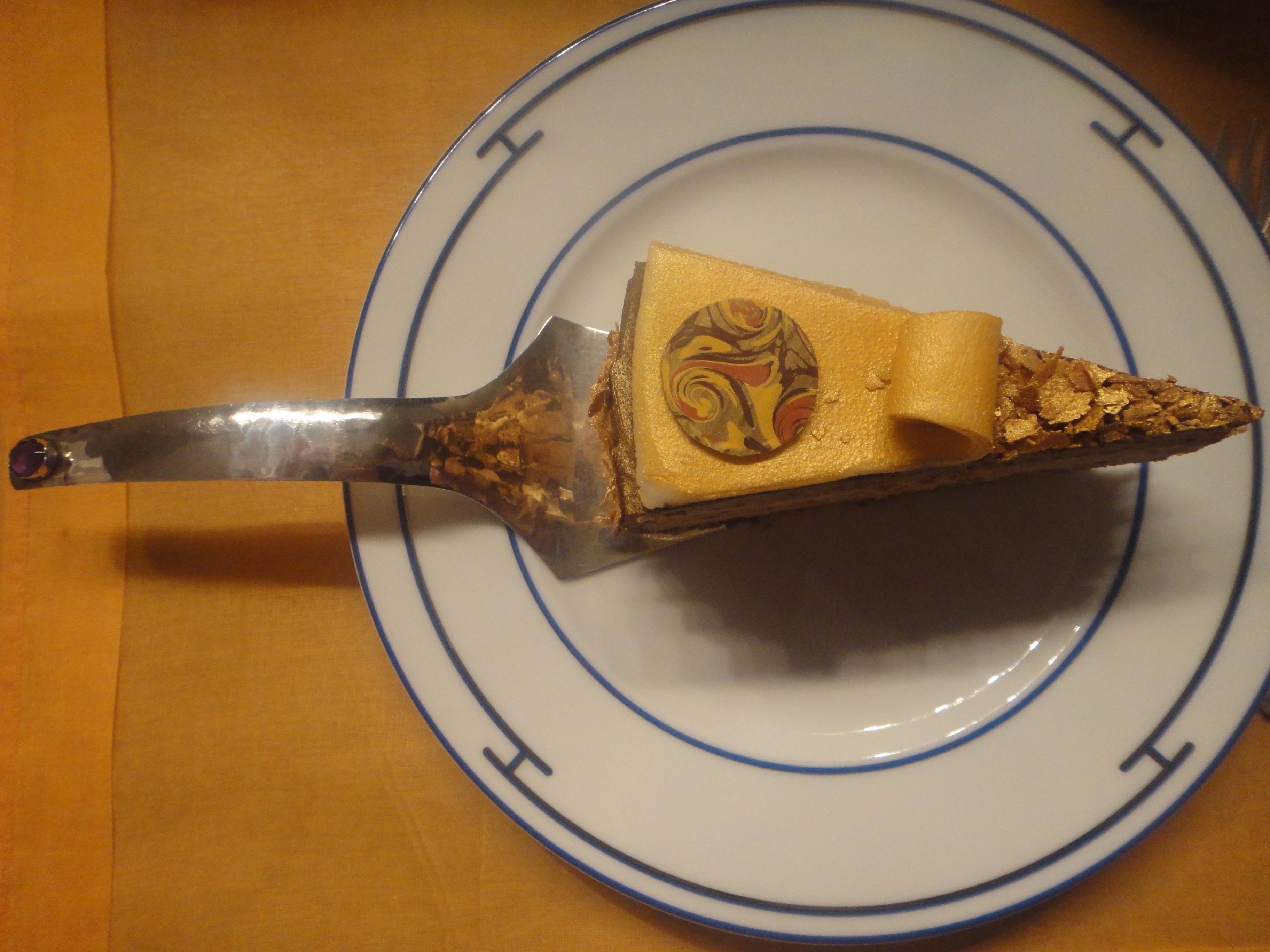 silver cake server by my uncle, silberner Tortenheber von meinem Onkel geschmiedet