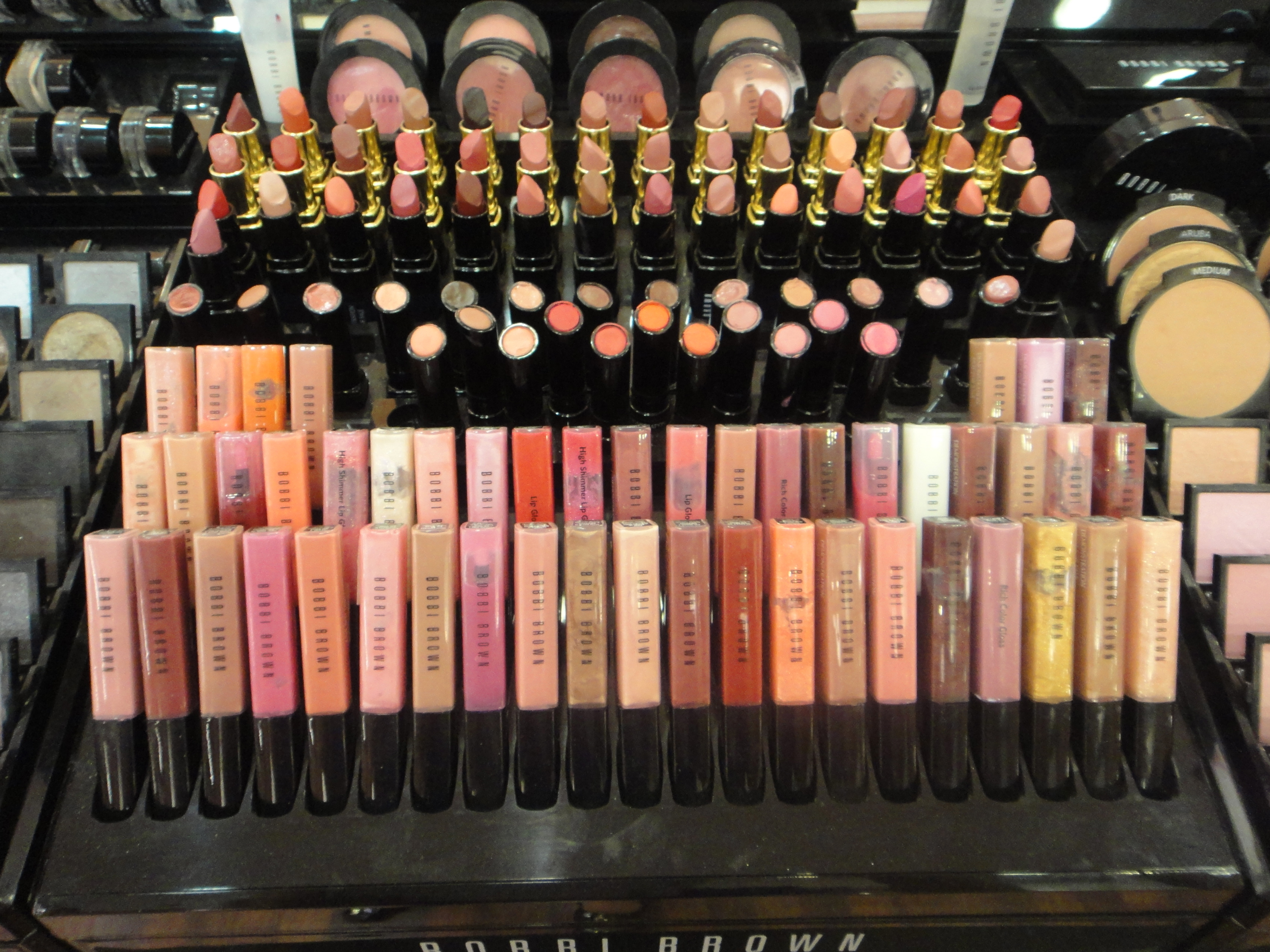 Bobbi Brown lip sticks and glosses