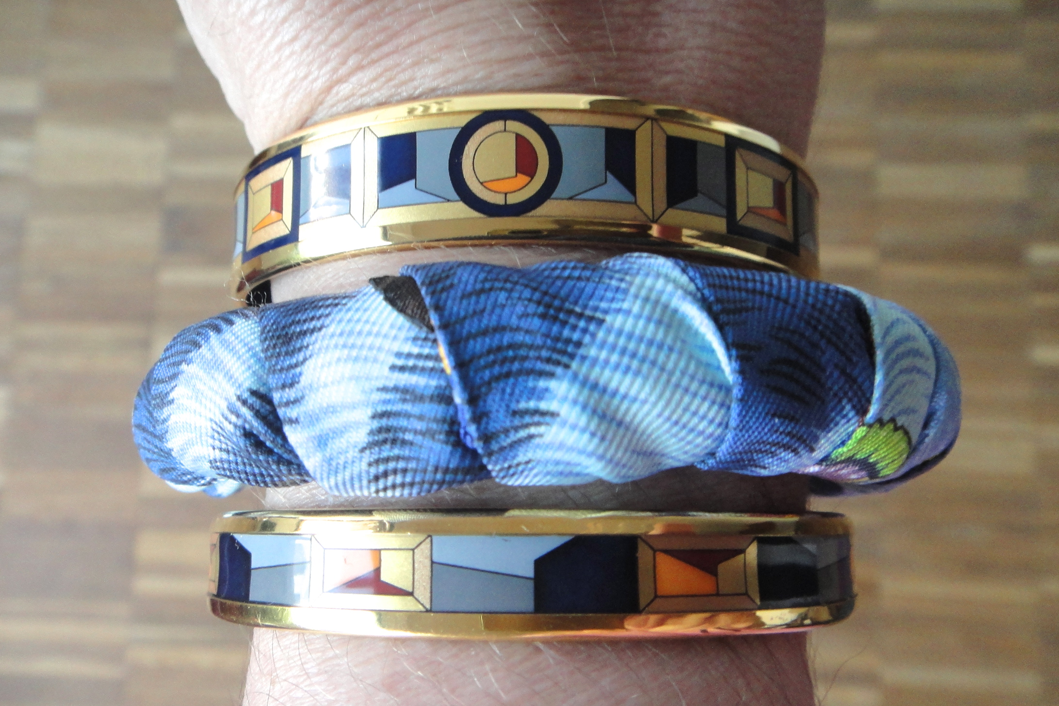 FreyWille bangles and Hermès Twilly