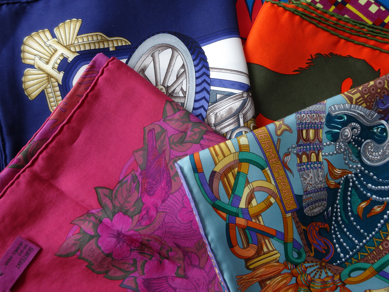 Hermès scarves - JAutomobile, Jungle Love, Au Fil du Carré